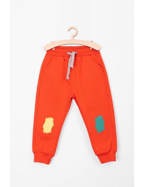 Spodnie dresowe dla niemowlaka- pomarańczowe