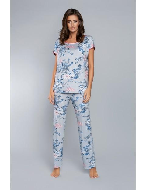 Dwuczęściowa piżama damska w kwiaty Italian Fashion