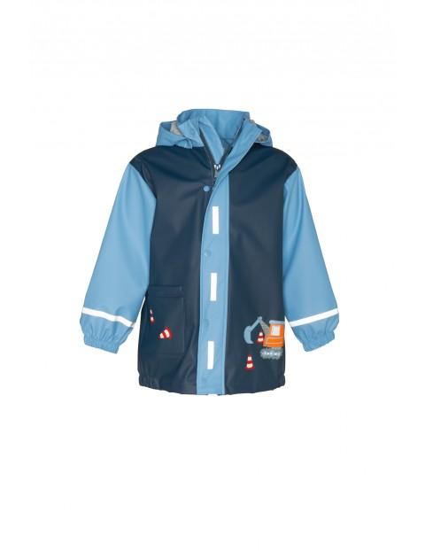Płaszcz przeciwdeszczowy dla chłopca koparka
