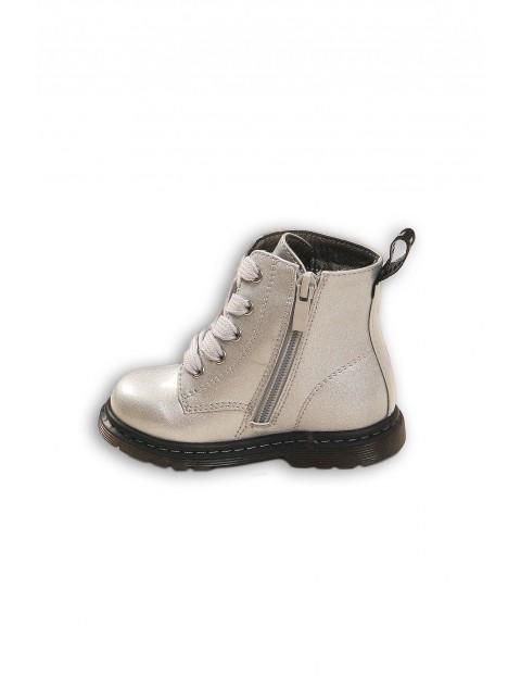 Buty dziewczęce - srebrne