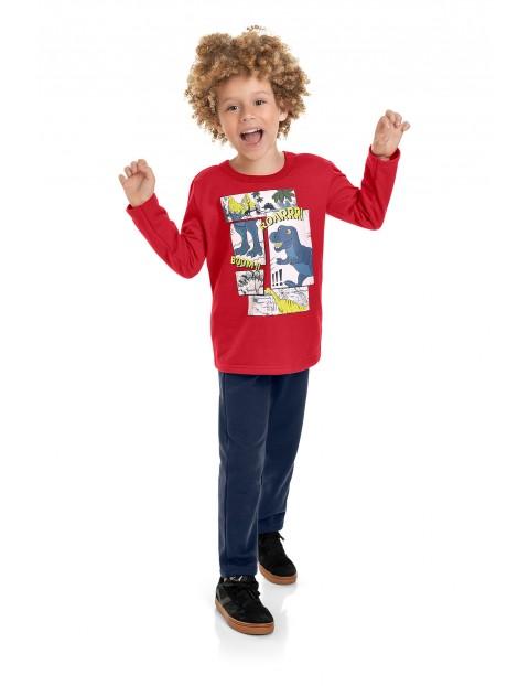 Komplet chłopięcy- bluza z dinozaurem i spodnie dresowe