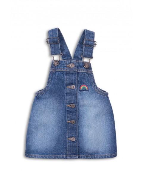 Sukienka niemowlęca jeansowa na szelkach