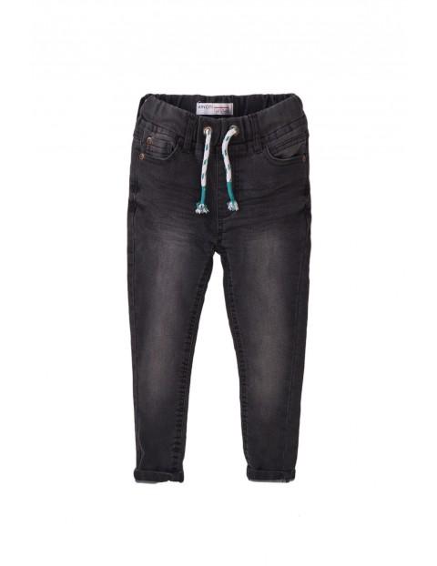 Spodnie niemowlęce jeansowe szare
