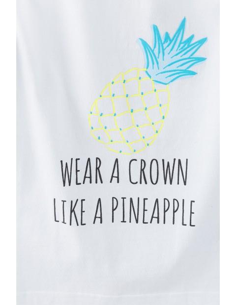 Bawełniana  pidżama dziewczęca w ananasy
