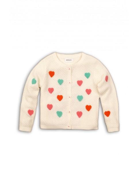 Sweter dziewczęcy w serduszka