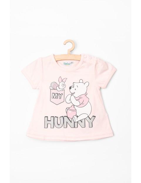 T-Shirt niemowlęcy różowy z Kubusiem Puchatkiem
