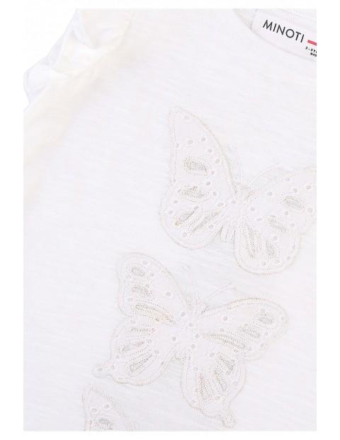Bawełniana bluzka dziewczęca z motyle