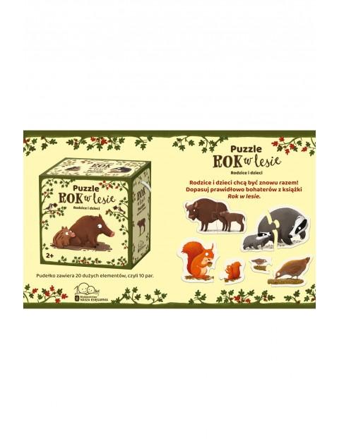 Puzzle dziecięce - Puzzle 10x2 elementy. Rok w lesie. Rodzice i dzieci wiek 2+