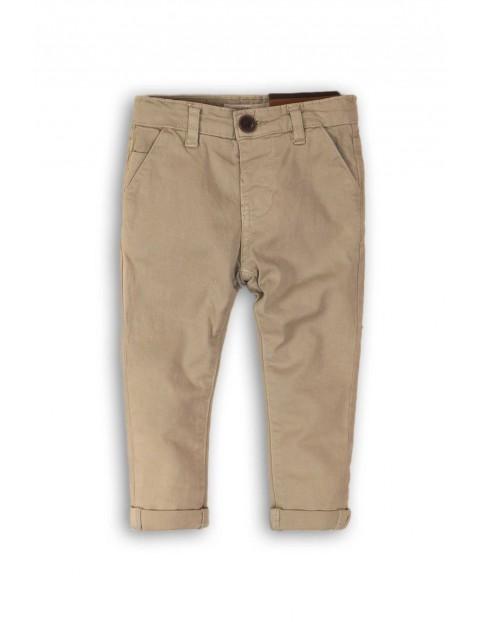 Spodnie chinosy niemowlęce- brązowe