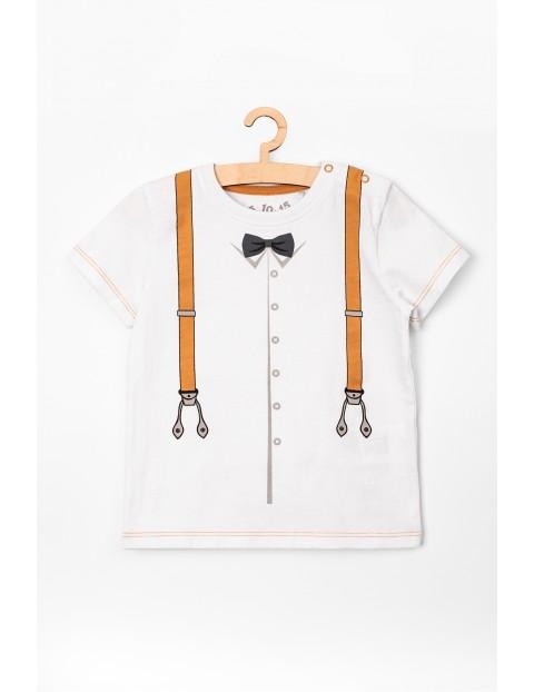 T-shirt niemowlęcy biały z nadrukiem
