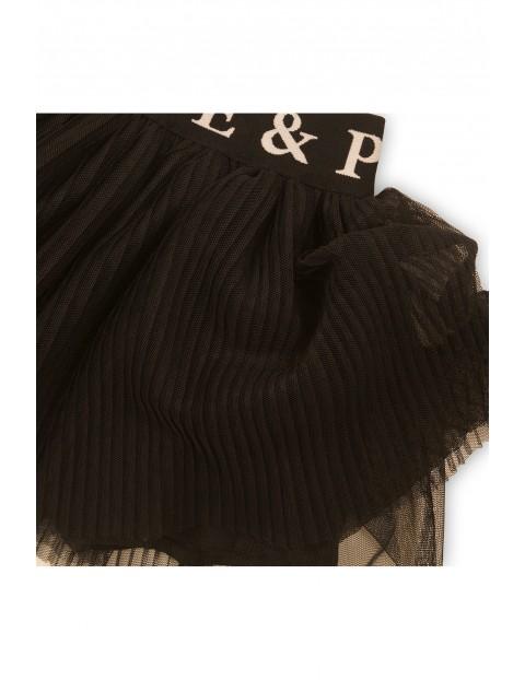 Spódnica tiulowa plisowana - czarna