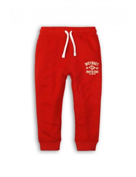 Spodnie dresowe dla chlopca- czerwone