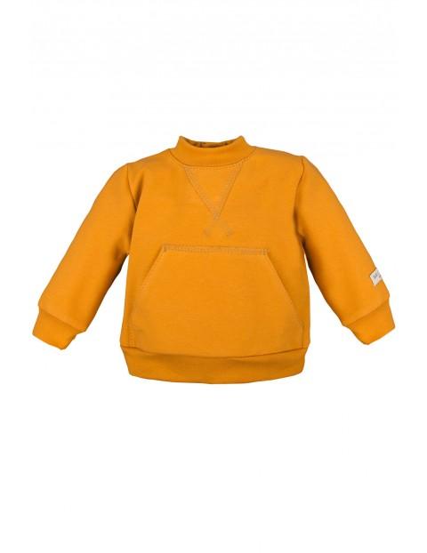 Bawełniana bluza kangurka - miodowa