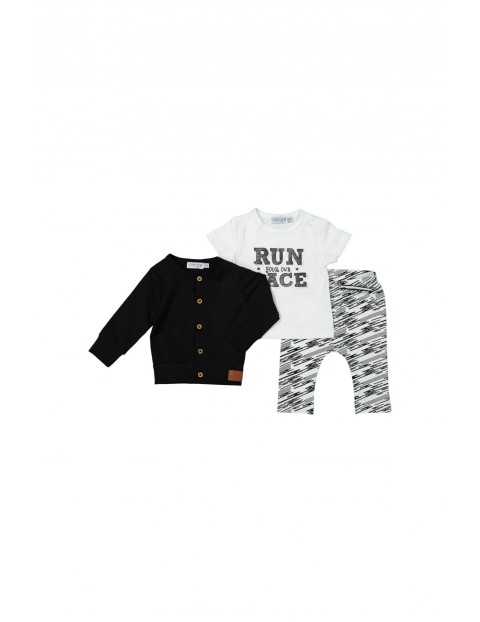 Komplet niemowlęcy sweter bluzka i spodnie