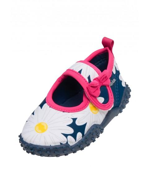 Buty kąpielowe dla dziewczynki z filtrem UV Kwiatki