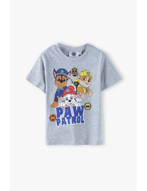 T-shirt chłopięcy szary Psi Patrol