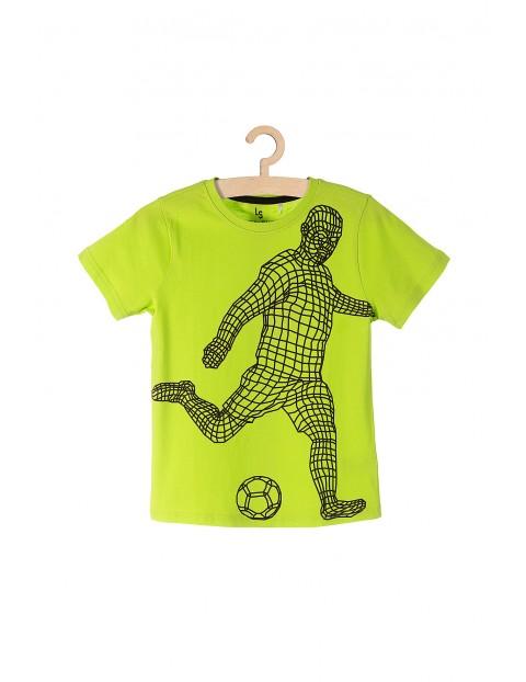 T-shirt chłopięcy bawełniany z piłkarzem