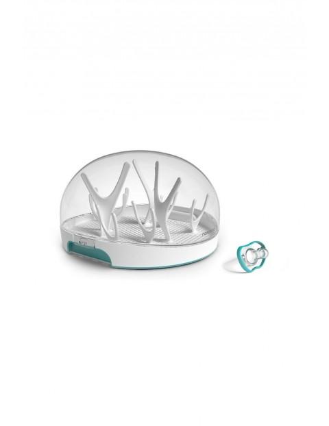 Mikrofalowy sterylizator parowy do butelek+smoczek uspokajający Flexy