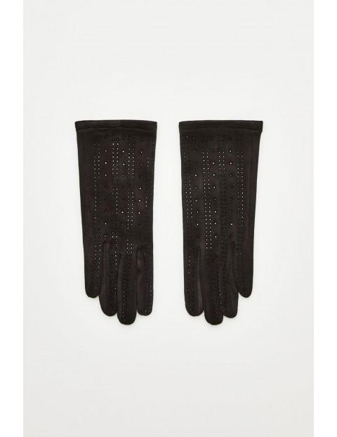 Rękawiczki z aplikacjami - czarne