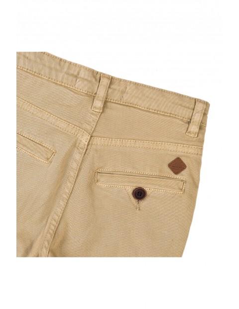Spodnie chłopięce chinos - beżowe