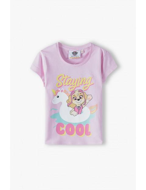 T-shirt dziewczęcy Psi Patrol - różowy