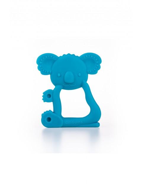 Silikonowy gryzak w kształcie koali GiliGums - niebieski 3msc+