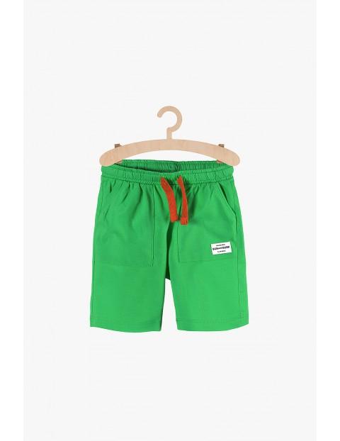 Krótkie spodenki dla chłopca- zielone