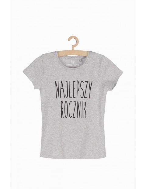 T-shirt dziewczęcy szary- Najlepszy rocznik