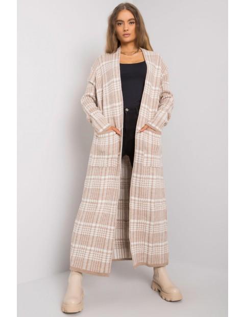 Sweter damski - narzutka we wzory