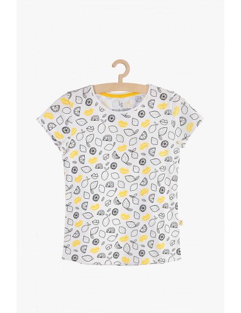 T-shirt dziewczęcy w cytryny