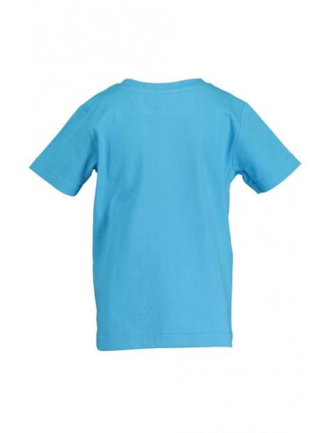 Koszulka chłopięca niebieska z helikopterem