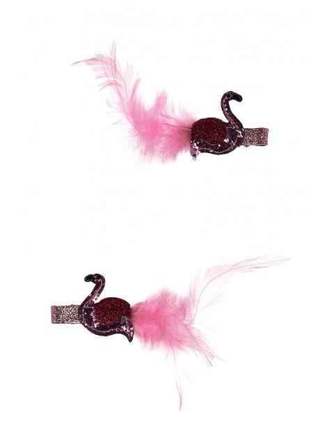 Różowe spinki do włosów
