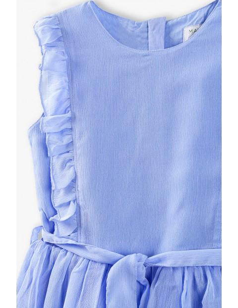 Sukienka z kokardką - niebieska