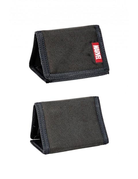 Czarny portfel na rzep Marvel