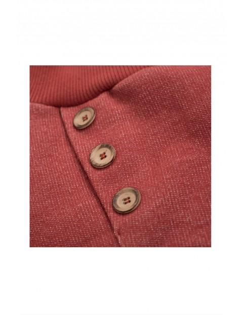 Spodnie chłopięce bawełniane z ozdobnymi guzikami