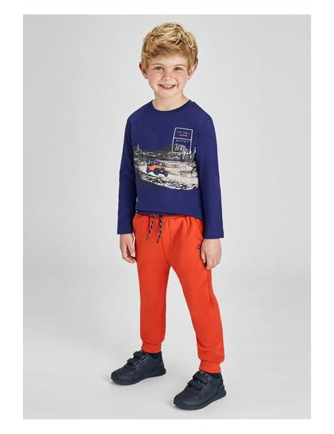 Długie spodnie  dresowe  - pomarańczowe