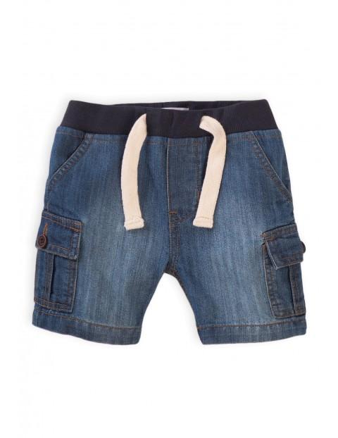 Szorty niemowlęce jeansowe- niebieskie