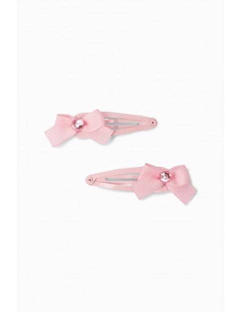 Spinki do włosów dla dziewczynki w kształcie kokardek - 2 sztuki