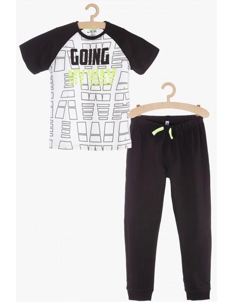 Pidżama chłopięca czarno-biała