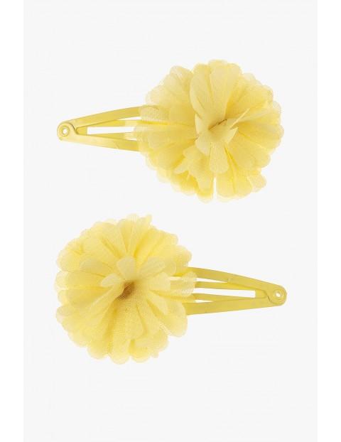 Spinki do włosów żółte kwiatki- 2szt
