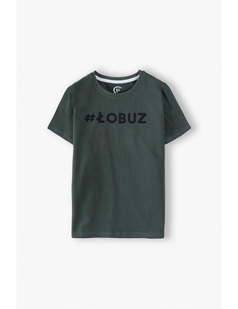 Bawełniany t-shirt chłopięcy-#Łobuz