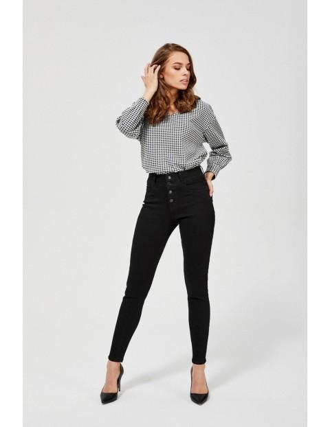 Czarne spodnie damskie- rurki