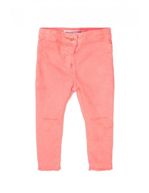 Spodnie niemowlęce w kolorze różowym