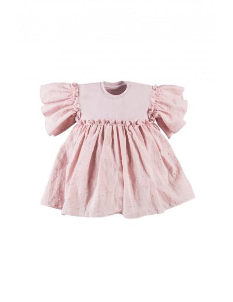 Sukienka niemowlęca - różowa