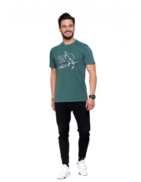 Bawełniany T-shirt z nadrukiem Peleton