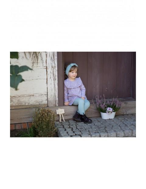 Dziewczęca tunika z długim rękawem- bawełniana w odcieniu fioletu My Garden