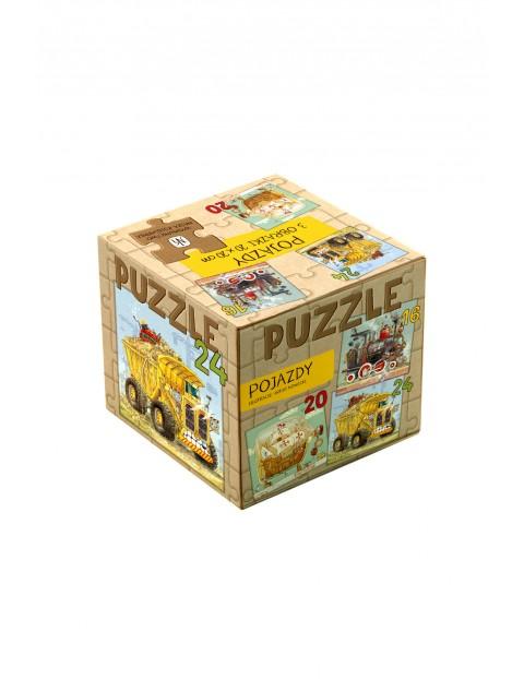 """Puzzle dla dzieci 3w1 """"Pojazdy"""""""