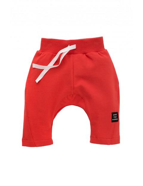 Spodnie niemowlęce dresowe czerwone