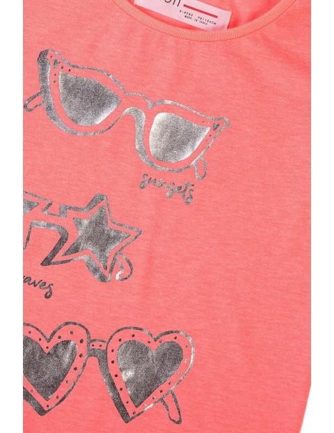 T-shirt dziewczęcy z napisem