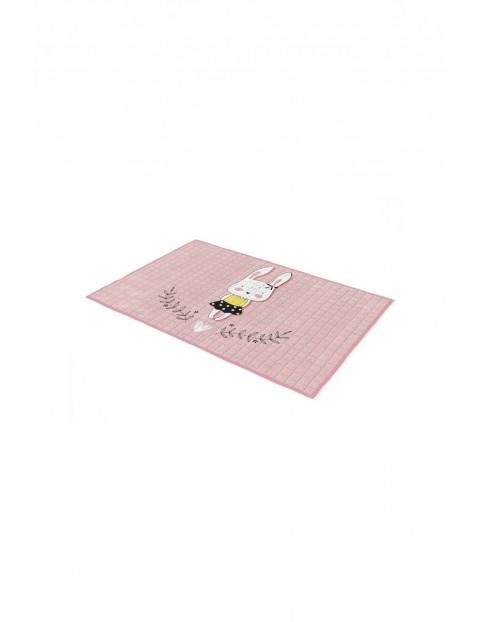 Dywan BON BON Króliczek- różowy 100x150cm